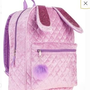 Bunny backpack quilted velvety